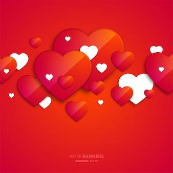 Brilhante decoração coração símbolo backdrop