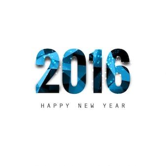 Brilhante do texto poligonal novo ano de 2016