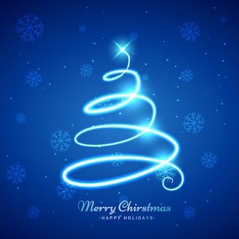 Brilhante espiral fundo árvore de natal