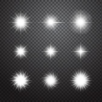 Brilhos decorativos definido