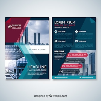 Brochura de negócios moderna e abstrata