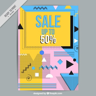 Brochura de vendas geométricas