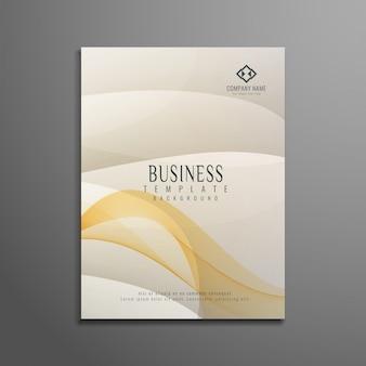 Brochura elegante e elegante com negócios ondulados