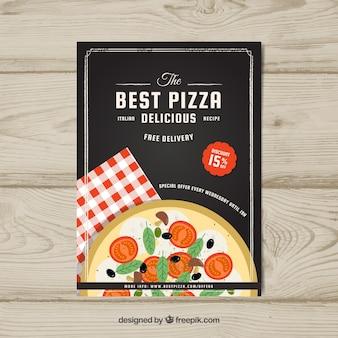 Brochura elegante para pizza
