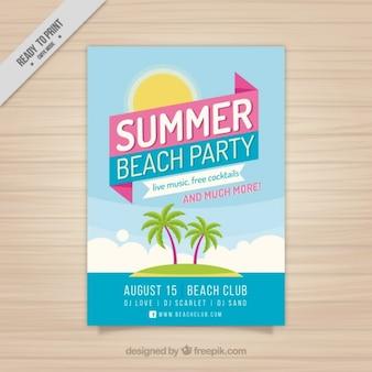 Brochura festa de verão com ilha