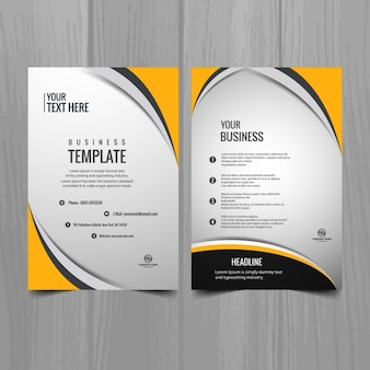 Brochura modelo de negócio moderno