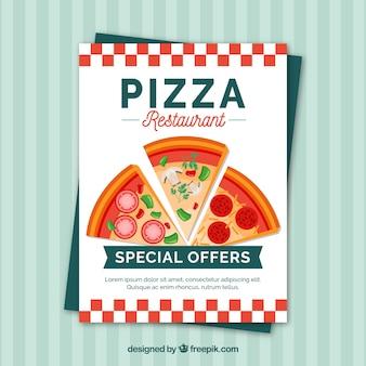 Brochura para pizzarias de desconto