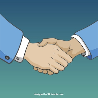 Business handshake ilustração
