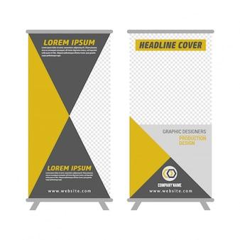 Business Roll Up. Standee Design. Modelo de Banner. Apresentação e Brochura Flyer. Ilustração do vetor