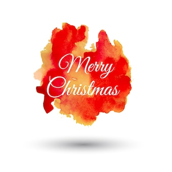 Cabeças de Splatter de Natal de aquarela