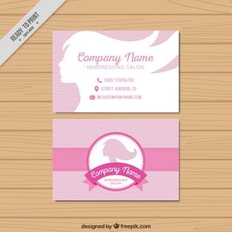 Cabeleireiro cartão de visita do salão de beleza