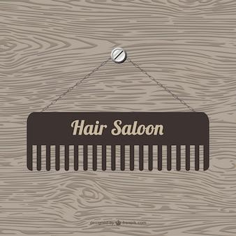 Cabelo modelo saloon vector