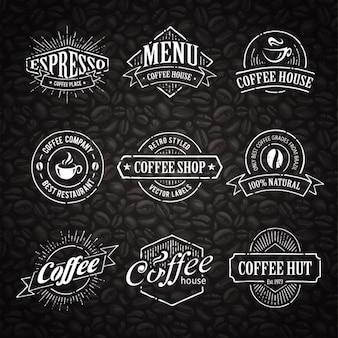 Café coleção modelos de logotipo