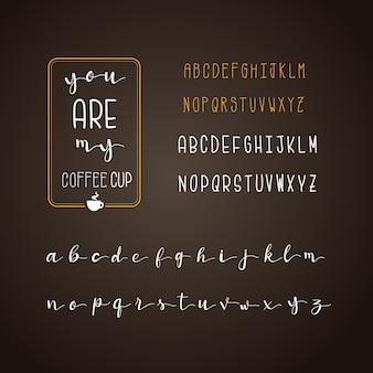 Café alfabeto coleção