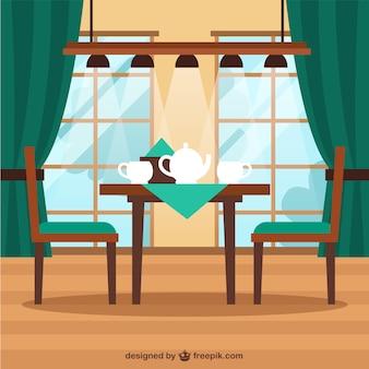 Café costeleta de ilustração