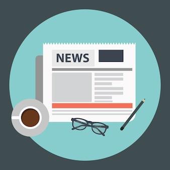 Café e jornal