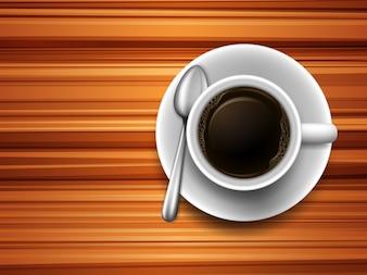 Café em uma mesa