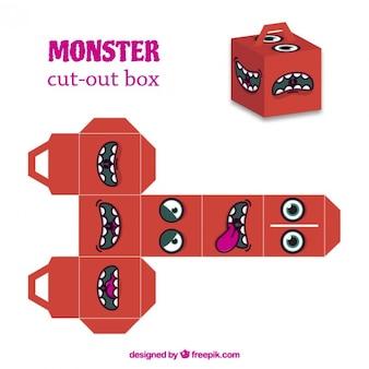 Caixa de cut-out monstro vermelho