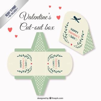 Caixa de Dia dos Namorados do vintage