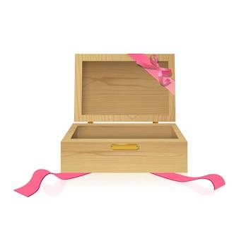 Caixa de presente de madeira