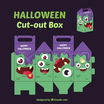 Caixa de recorte do monstro do Dia das Bruxas