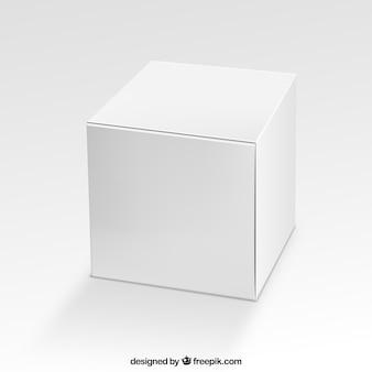 Caixa quadrada em branco