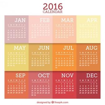 Calendário 2016 Plano