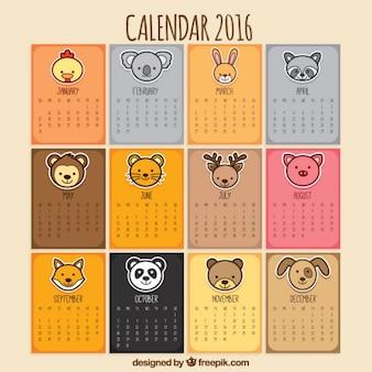 Calendário animal