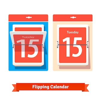 Calendário de flipping colorido