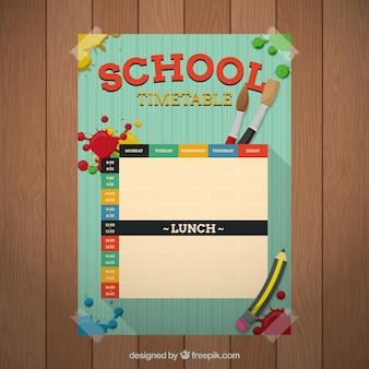 Calendário escolar artística