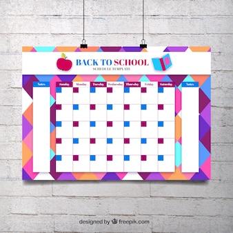 Calendário Escolar cores