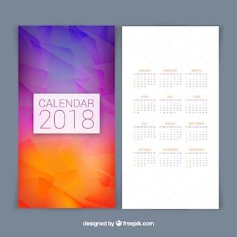 Calendário Gradient 2018