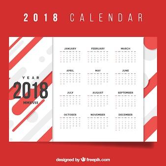 Calendário vermelho 2018