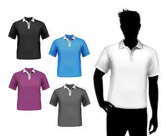 Camisas masculinas mock up