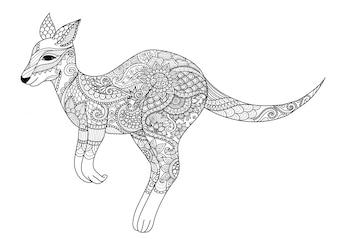 Canguru com design étnico