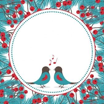 Cantando fundo aves com visco