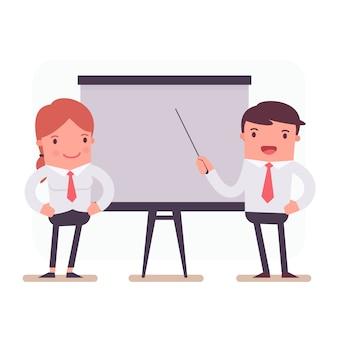 Caracteres comerciais em uma apresentação