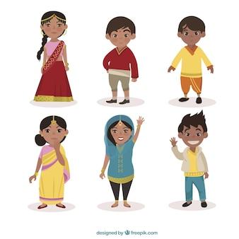 Caracteres indianos embalar
