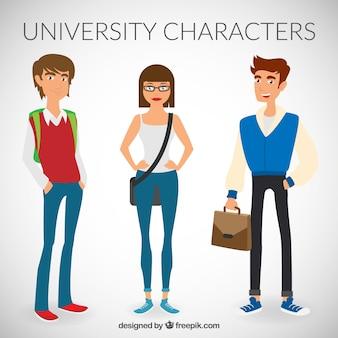 Caracteres universitários