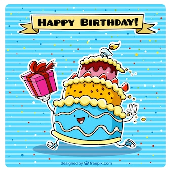 Caráter bolo de aniversário