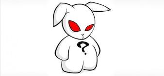 caráter coelho vetor