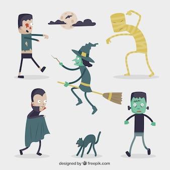 Caráter coleção do Dia das Bruxas