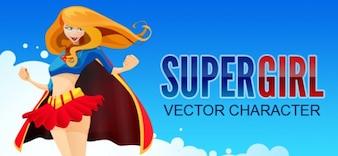 caráter vetor super-herói menina