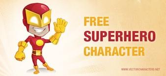 caráter vetor super-herói