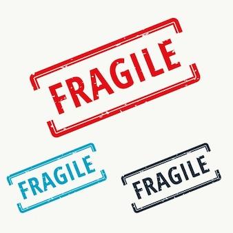 Carimbo de borracha frágil no vetor