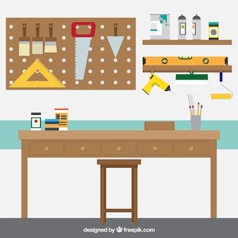 Carpintaria local de trabalho