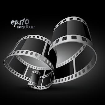 Carretel de filme de vetor 3d realista