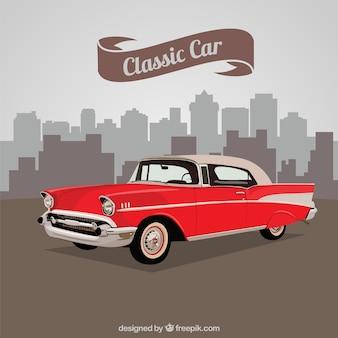 Carro clássico vermelho