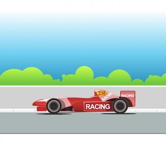 Carro de competência vermelho
