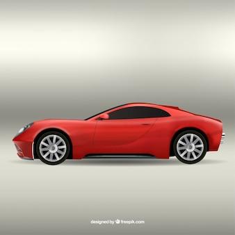 Carro desportivo vermelho